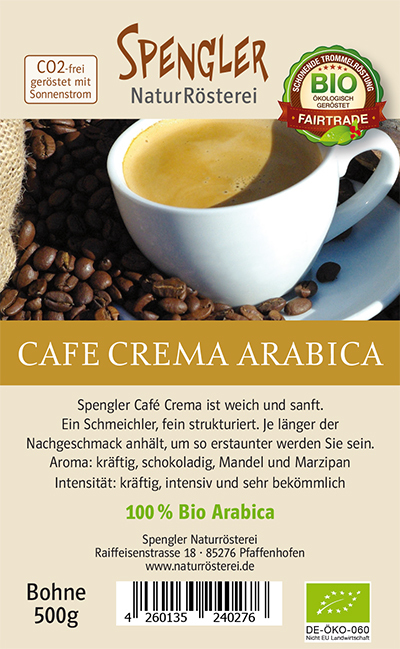 Cafe Crema 100 % Arabica Bio Fair Trade 500 g